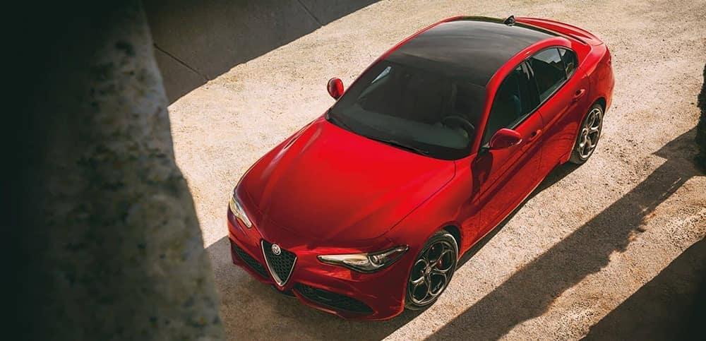 2019 Alfa Romeo Giulia aerial view