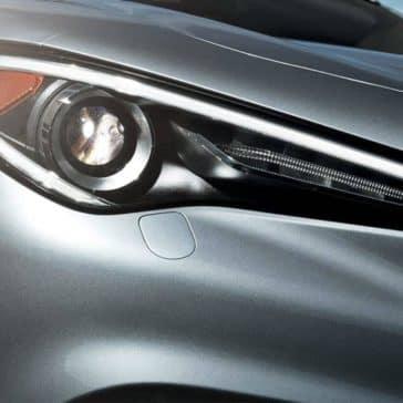 2019 Alfa Romeo Stelvio head light detail