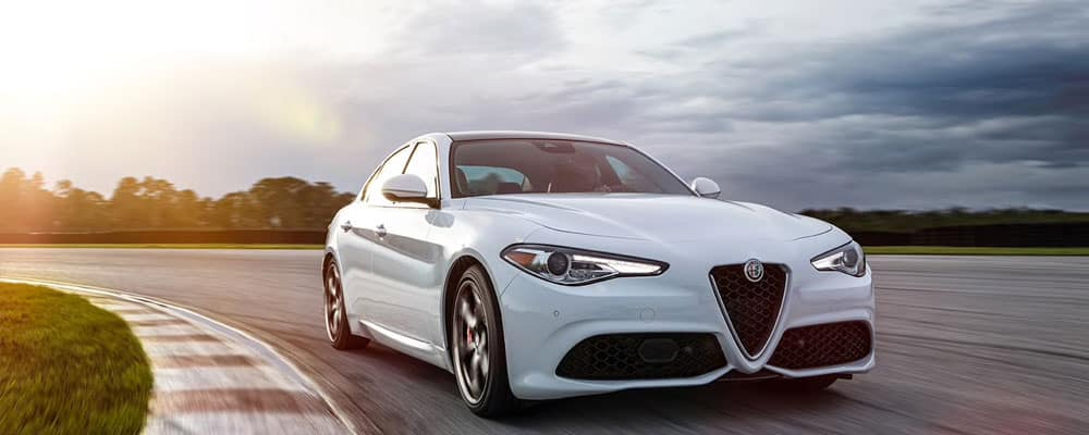 2019 Alfa Romeo Giulia Driver Assist Driving on Road