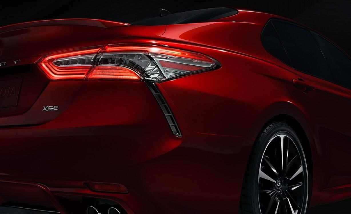 2018 Toyota Camry Rear View Exterior Up Close
