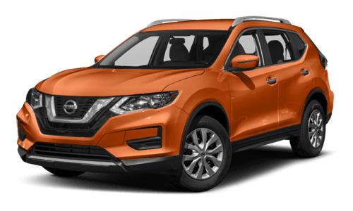 2017 Nissan Rogue orange exterior model