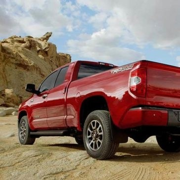 2017 Toyota Tundra red exterior