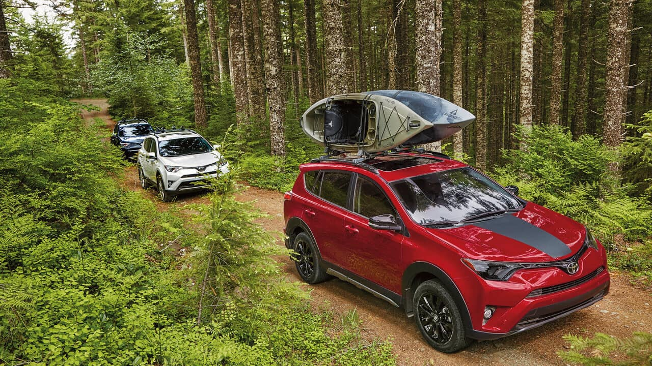 2018 Toyota RAV4 on the road