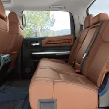 2018 Toyota Tundra rear interior seating