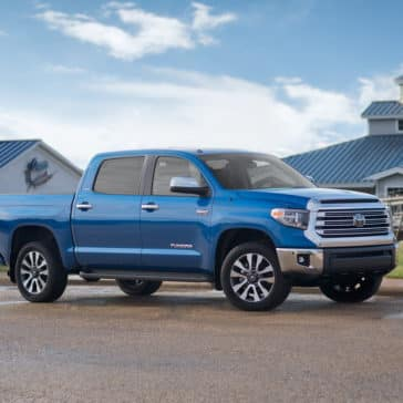 2018 Toyota Tundra blue exterior model