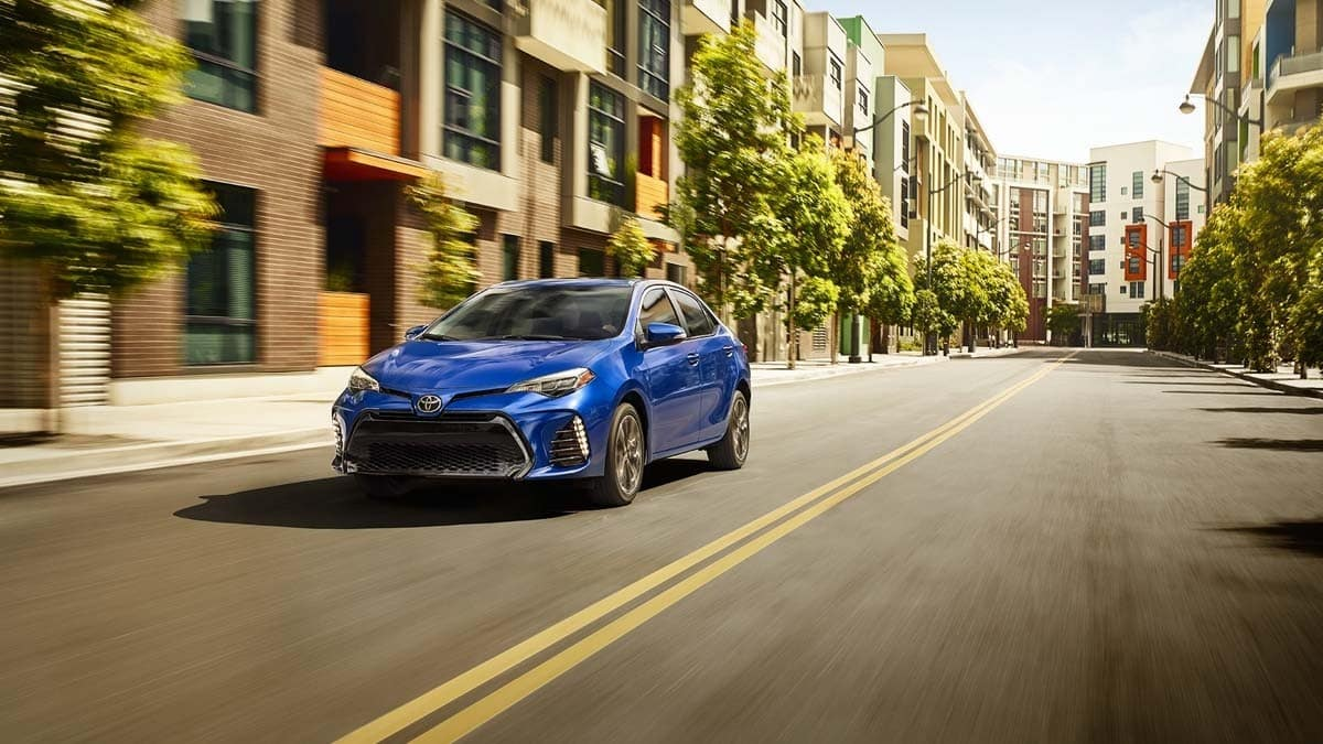 2018 Toyota Corolla Blue Exterior