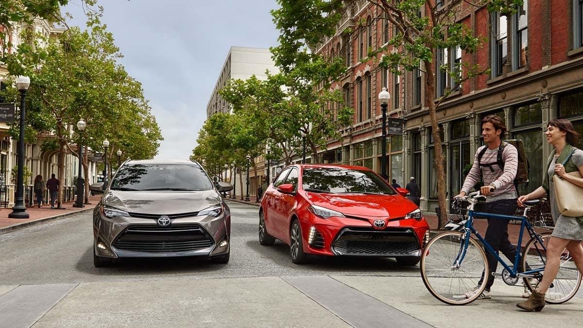 Toyota Corollas On City Street