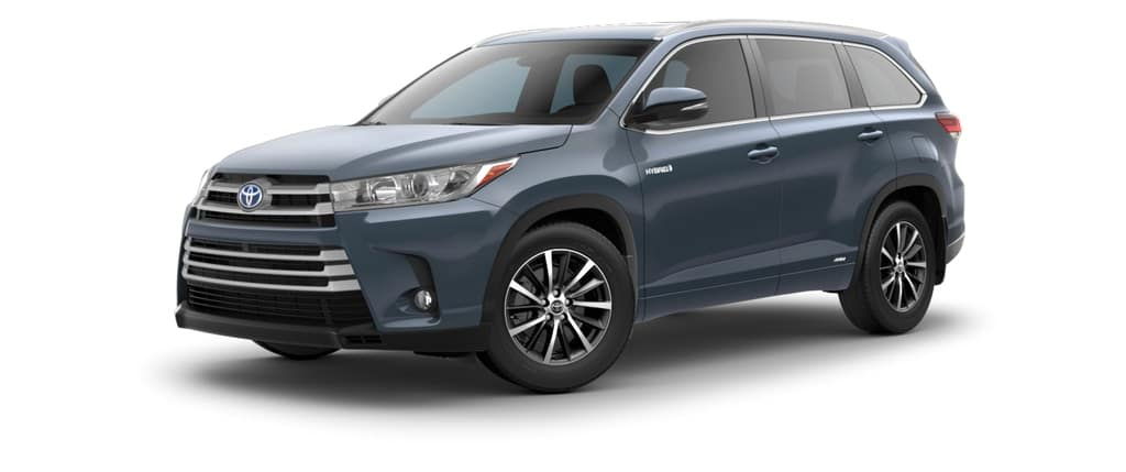 2018 Toyota Highlander Hybrid in Shoreline Blue Pearl