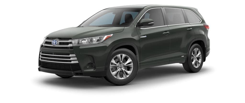 2018 Toyota Highlander Hybrid in Alumina Jade Metallic