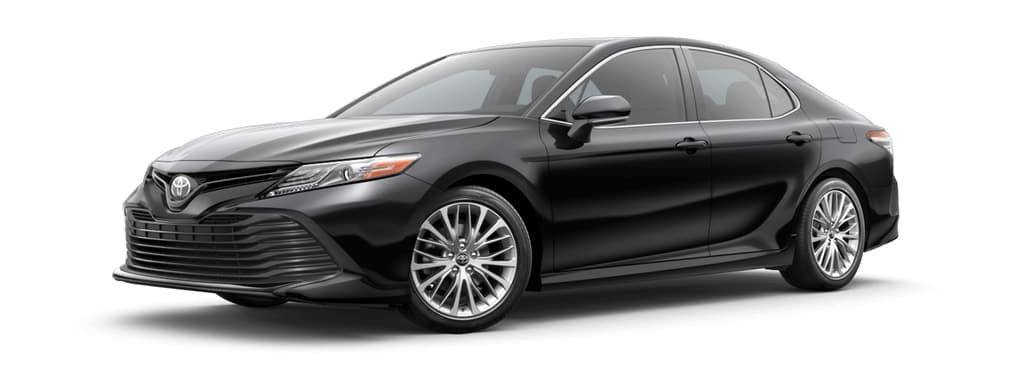2019 Toyota Camry Hybrid in Midnight Black Metallic