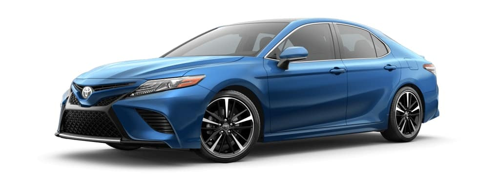 2019 Toyota Camry Hybrid in Blue Streak Metallic