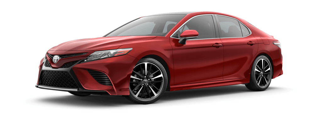 2019 Toyota Camry Hybrid in Supersonic Red
