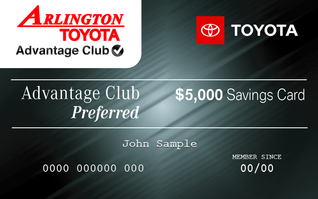 Arlington Toyota Card - Preferred - 062118