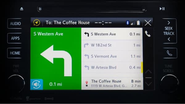 Toyota Entune includes integrated navigation
