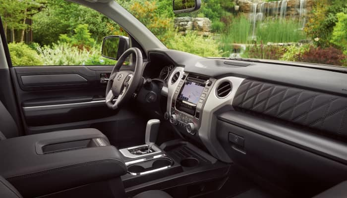 The spacious interior of the 2019 Toyota Tundra