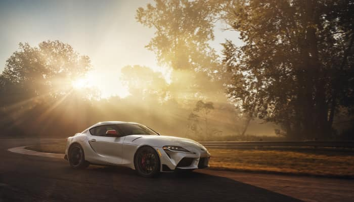 The sporty exterior of the 2020 Toyota Supra