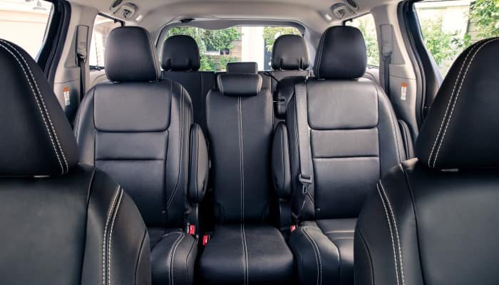 The spacious interior of the 2019 Toyota Sienna