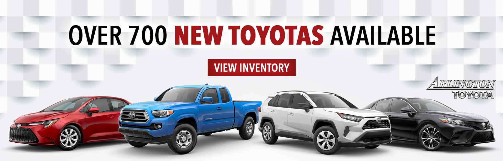 Arlington Toyota 700 Vehicles  On The Lot
