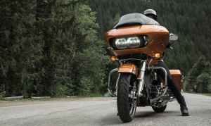 rider on 2015 Touring Road Glide