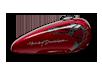 2016 Harley-Davidson 1200 Custom velocity red sunglo delux