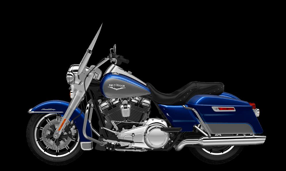 Road King Superior Blue- Billet SIlver