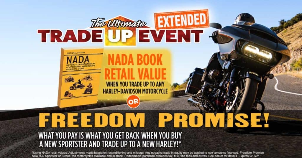 Ultimate Trade Up Event - Sales Tax Promotion on Pre-Owned or NADA Book Retail Value on trade