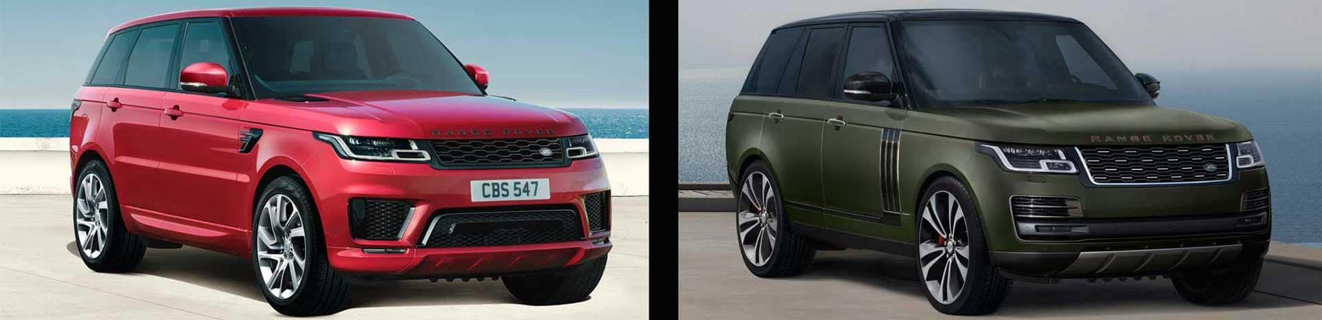 2022 Range Rover vs. Range Rover Sport