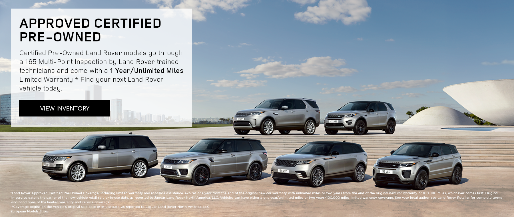 Land Rover Approved Certified Pre-Owned Banner