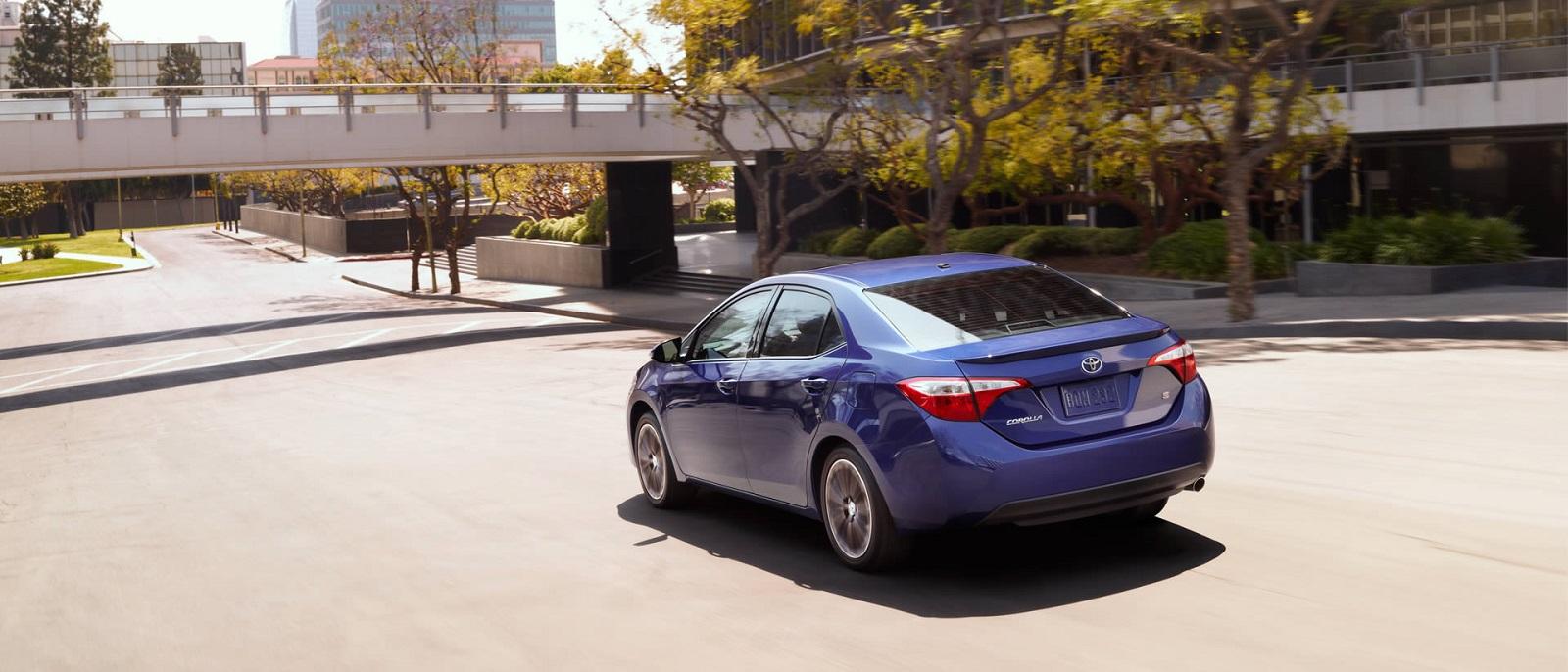 2016 Toyota Corolla Blue Rear