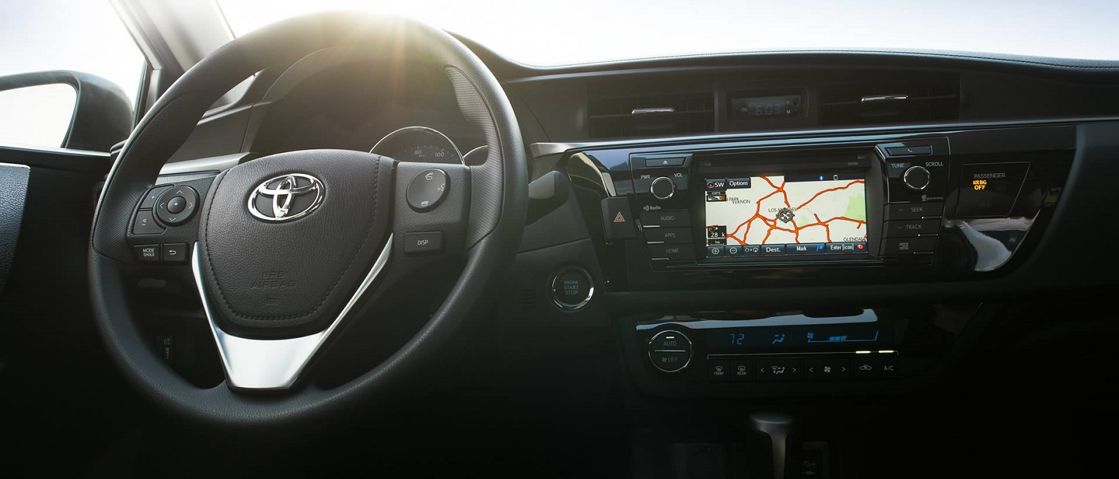 2016 Toyota Corolla Front Interior