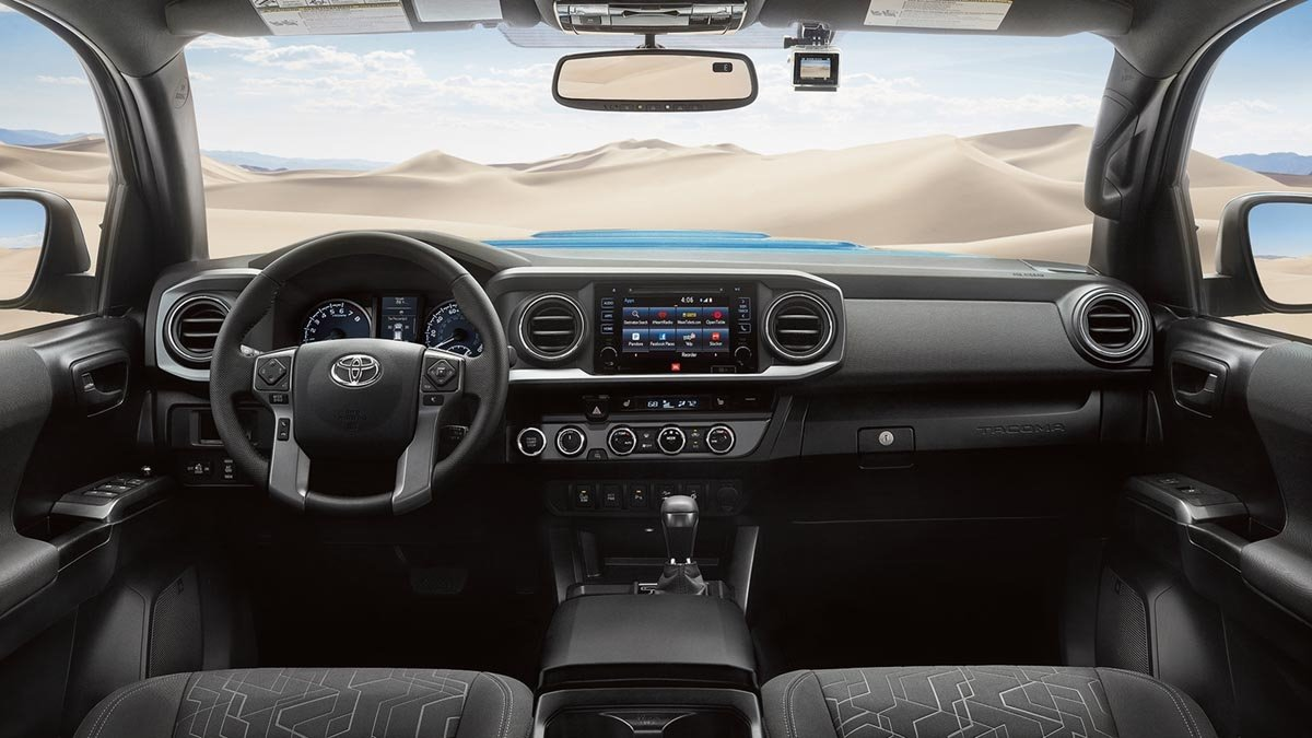 2017 Toyota Tacoma TRD Sport Double Cab Interior with Entune