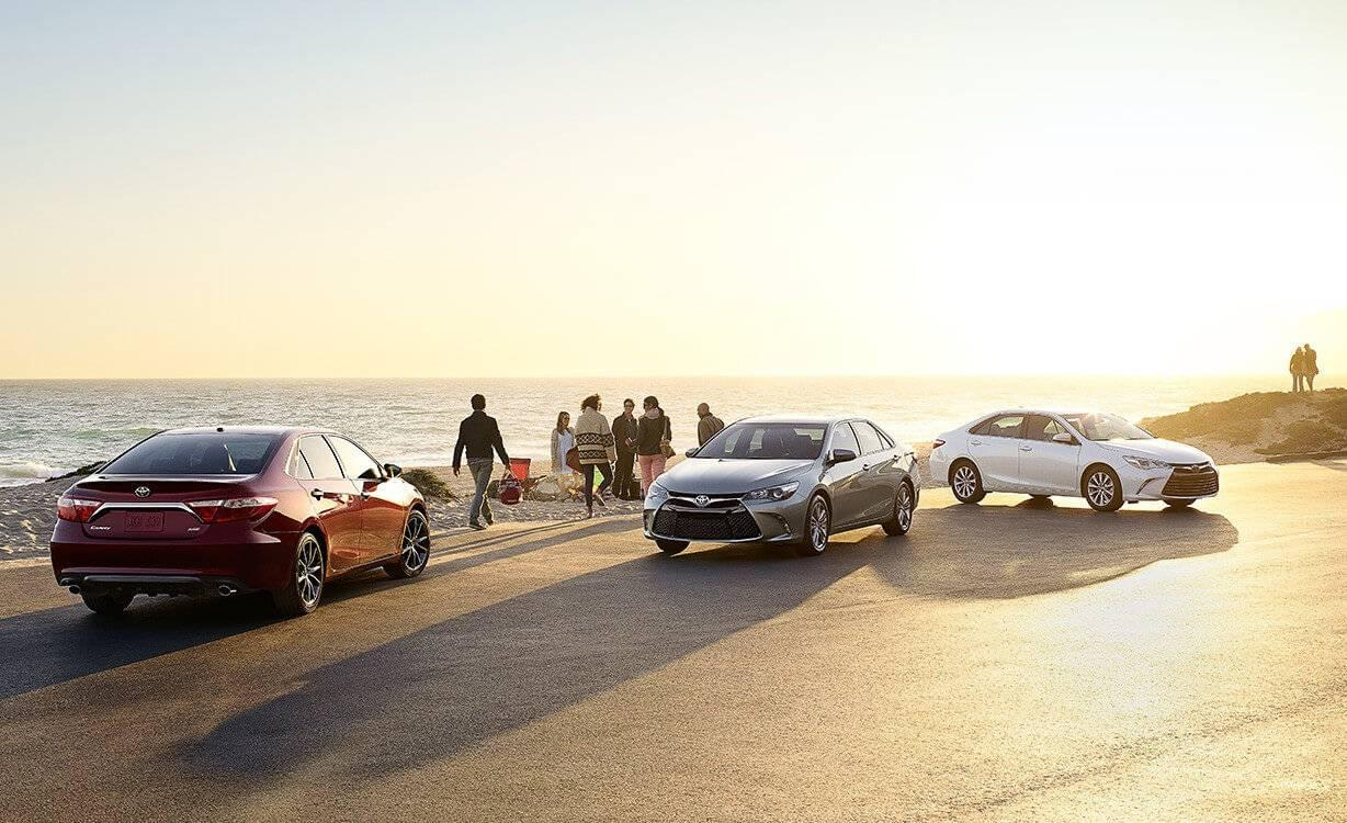 Toyota Camry Lineup on Beach