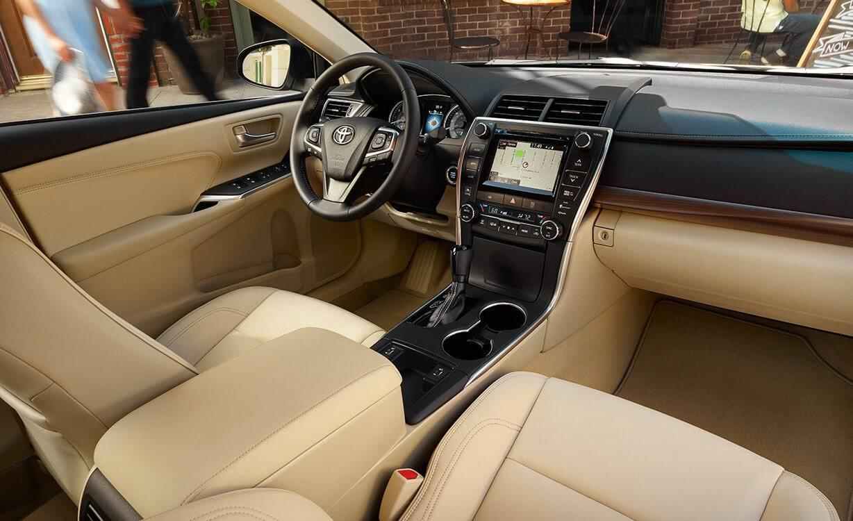 Toyota Camry XLE Interior Almond Technology Package