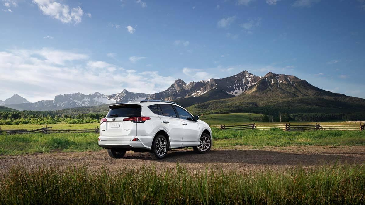 Toyota RAV4 Platinum AWD Facing Mountain