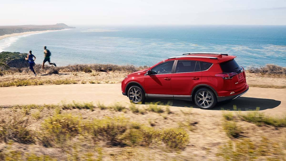 Toyota RAV4 SE Driving by the Beach