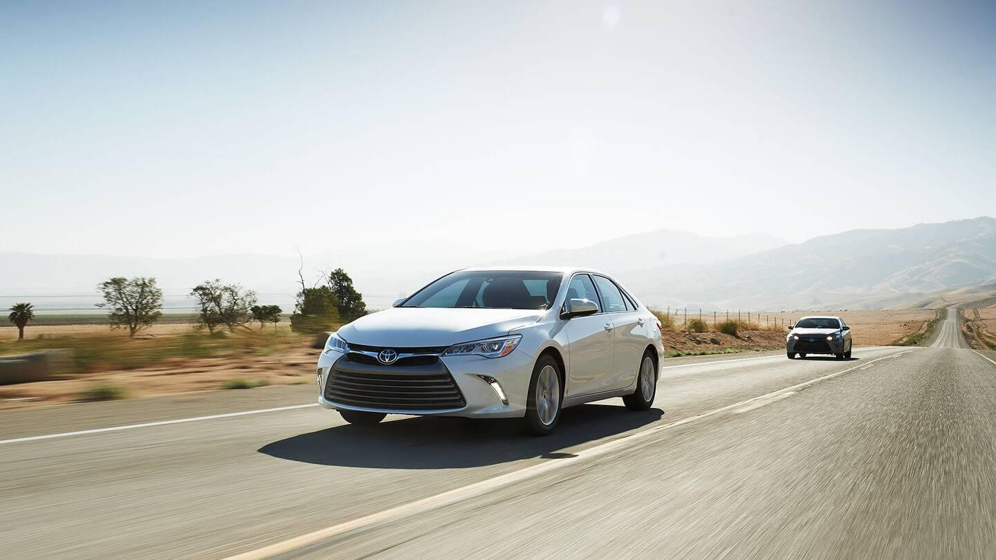 2017 Toyota Camry on road