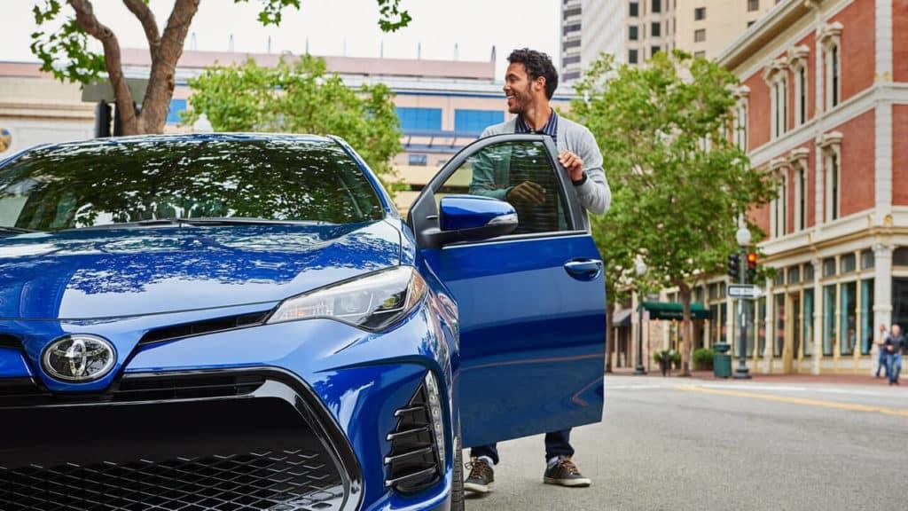 Getting into 2018 Toyota Corolla