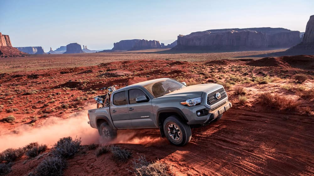 2018 Toyota Tacoma driving through desert