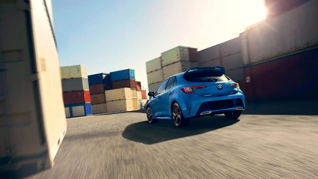 2019 Toyota Corolla Hatchback fast driving