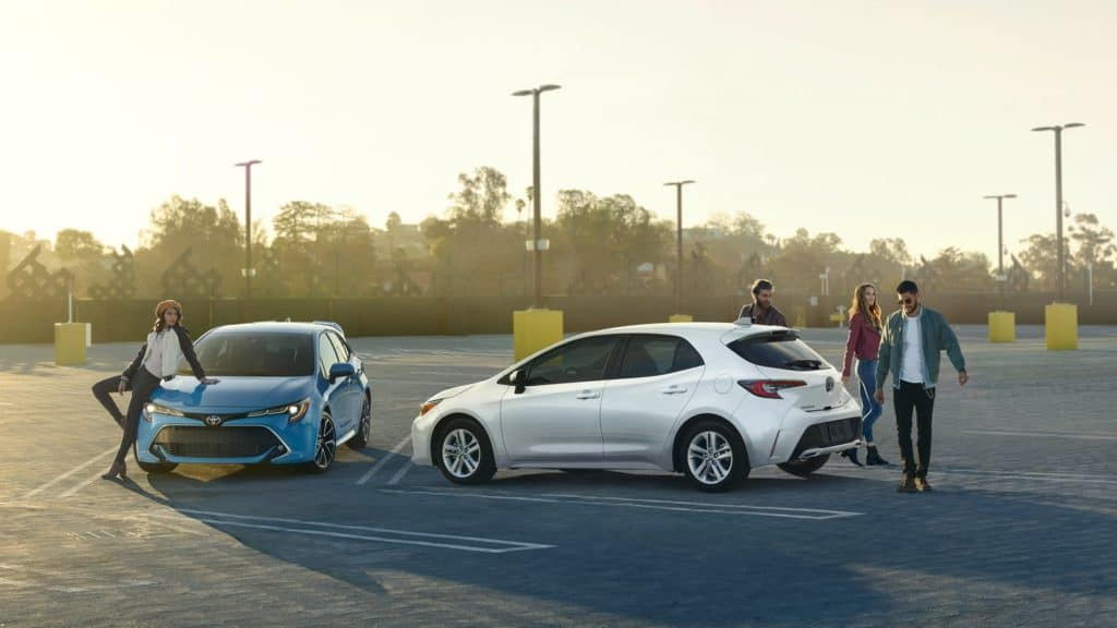 2019 Toyota Corolla Hatchback parking lot