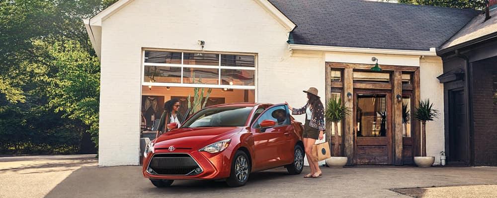 2019 Toyota Yaris outside