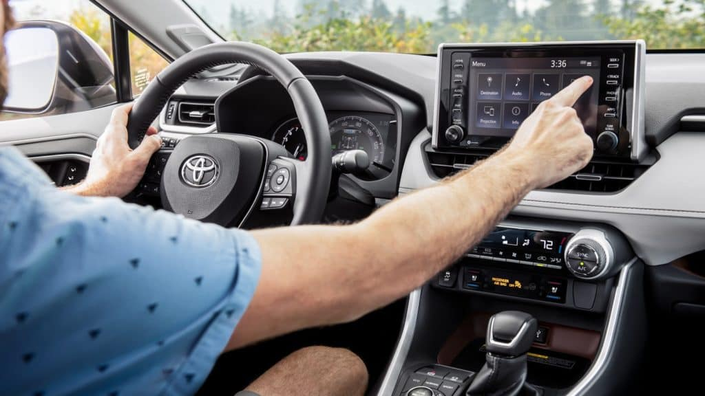 2019 Toyota RAV4 with driver