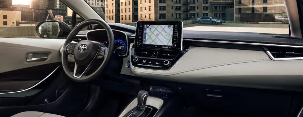 2020 Corolla Interior Navigation