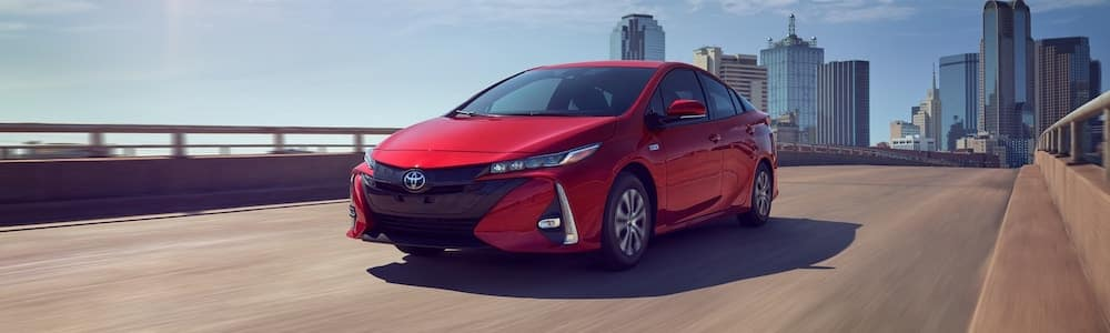 2021 Prius Prime on the highway