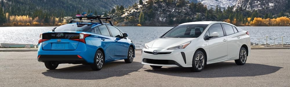 2021 Prius models by the water