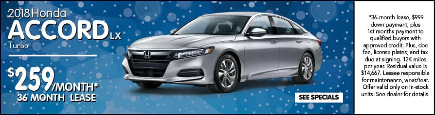 2018 Accord $259/month