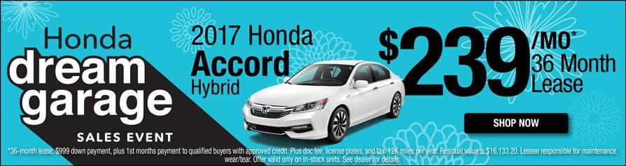 Honda Accord Hybrid Lease $239