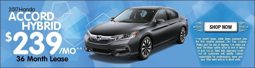 Lease Honda Accord Hybrid $239/mo