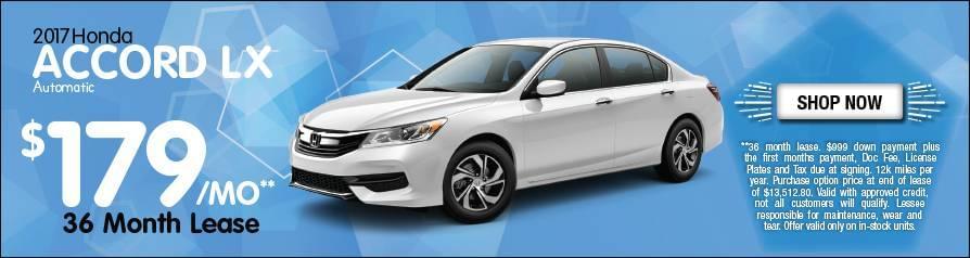 Lease Honda Accord LX $179/mo