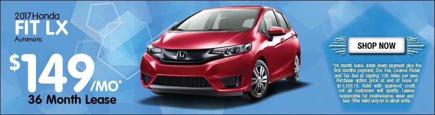 Lease Honda Fit LX $149/mo